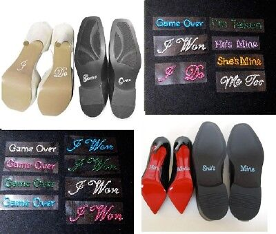 Wedding Engagement Shoes Or Wine Glass Rhinestone Sticker Decal  Photo Prop