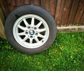 "BMW 3 SERIES E36 15"" inch ALLOY WHEEL & TYRE - SPARE WHEEL - SPACE SAVER - 205/60/15"
