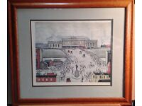 Ls Lowry signed limited edition print 'station approach'