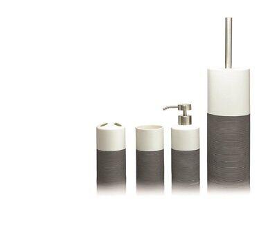 Bathroom Accessories Set Sealskin Doppio Gray ()