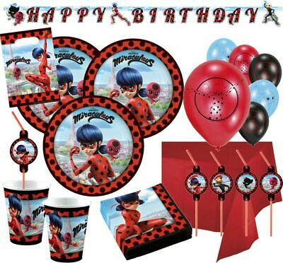 Ladybug Party Supplies (Miraculous LADYBUG Prodigiosa Party Festa Supplies Tableware Decoration)