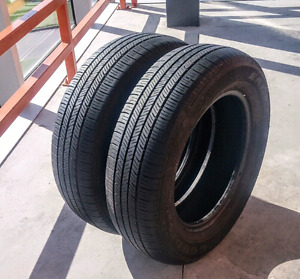 Set of two 195/65/15 Goodyear Eagle LS all season tires, 7/32nd