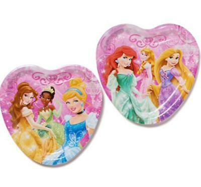 Disney Heart Shaped Plates (Disney Princess Dream Big Heart Shaped Plates 8 Ct Party Supplies New )