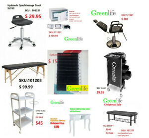 Greenlife Etobicoke eyelash massage table bed barber chair wax