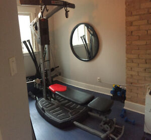 Bowflex Ultimate 2 with Leg extension and squat attachments