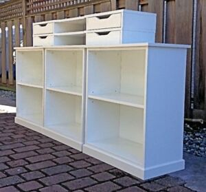 Ikea modular shelving and drawer units