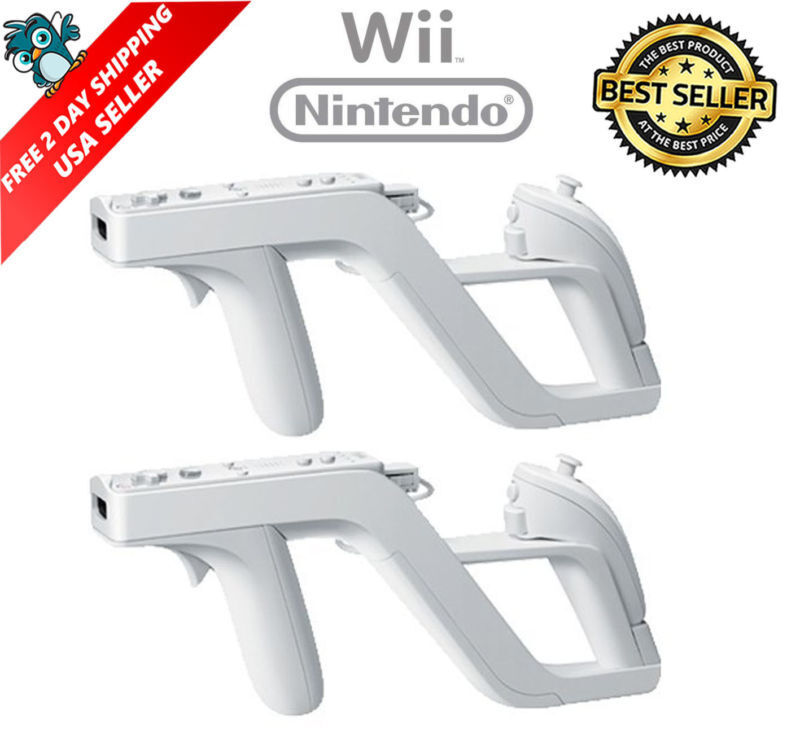 2 X Zapper Gun For Nintendo Wii Wireless Remote Controller Game 4