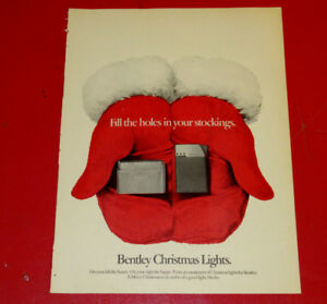 1973 BENTLEY LIGHTERS CHRISTMAS AD + VINTAGE CHIVAS REGAL SCOTCH