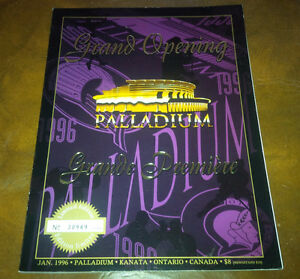 Grande Opening Program Palladium, Jan 1996 Kanata, ON