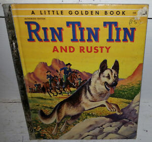 1955 RIN TIN TIN AND RUSTY LITTLE GOLDEN BOOK
