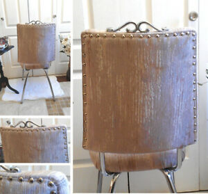 2 Vanity Chairs, Options : Button Tufted,Nail Head or Solid Wood