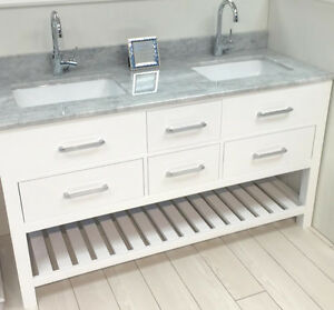 HUGE VANITY CLEARANCE SALE!! SOLID WOOD+STONE TOP+SINKS