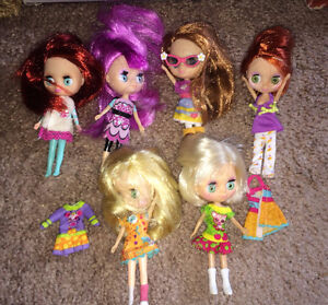 Littlest Pet Shop Blythe Doll lot of 6 + Lots of Accessories