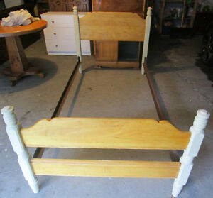 Solid wood twin bed 4 sale