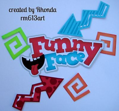 Funny Face Play Boy paper piecing title premade scrapbook page album by Rhonda