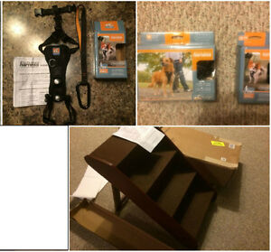 New Dog / Pet Items - harnesses, stairs/steps