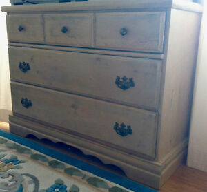 3 drawer chest, solid wood, hand painted by artist