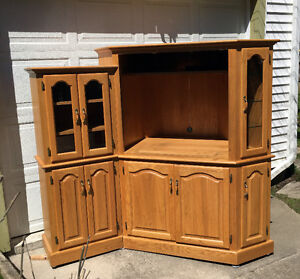 Solid Oak Custom Cabinet