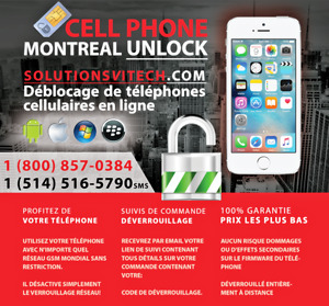 Unlock Montreal Official Factory FastCell QC 1 (800) 857-0384