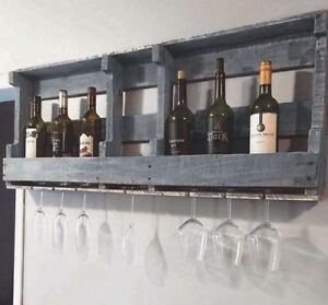 Rustic Industrial Pallet Wine Rack