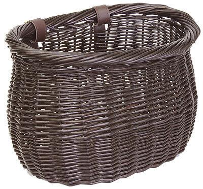 Sunlite Front Wooden  Willow Bushel Strap-On Basket 13x8x9-Brown