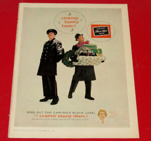 1960 BLACK LABEL BEER VINTAGE CHRISTMAS AD - ANONCE BEIRE NOEL