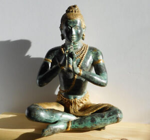 Antique bronze statue / sculpture of Prince Phra Aphai Mani