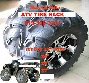 Maxxis Zilla  TWO 25x8-12 & TWO 25x10-12 $346.02 ATV TIRE RACK