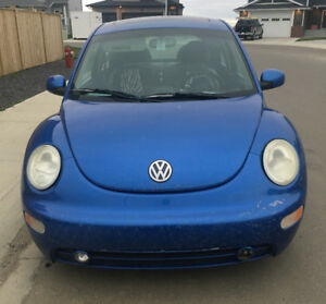 Blue Volkswagen Bug