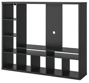 LAPPLAND TV stand / storage wall unit - black-brown ($249 value)