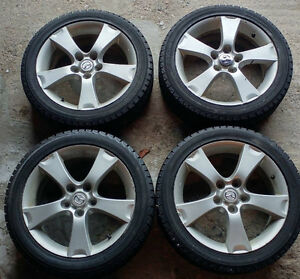 Winter Tires with Mazda Rims