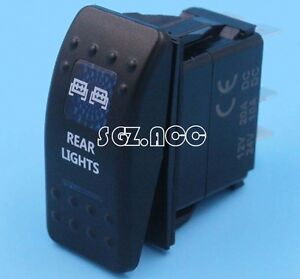 REAR LIGHTS Rocker Switch Carling ARB Narva Style BLUE LED Heaps of Designs