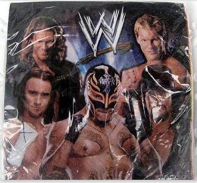 WRESTLING WWF Party Supplies NAPKINS Birthday Cake Undertaken AAA Decoration NEW