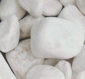 White Decorative Pebbles 40mm - 90mm - 12 Bags - Long Rake Spar