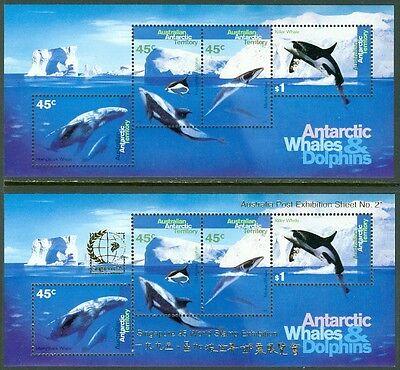 EDW1949SELL : AUSTRALIA ANTARCTICA 1995 Scott #L97a & b VF, Mint NH. Cat $72.00.