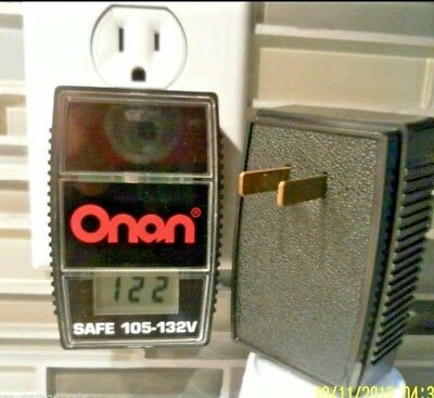 Digital Volt Meter Onan Plug In Line Monitor Voltage 105-132 Vac