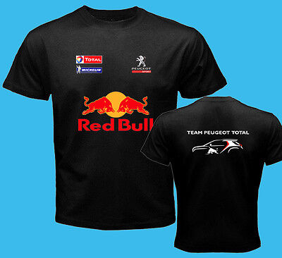 Peugeot Racing Team Dakar Rally Black t shirt S - 3XL Sebasien Loeb Sainz