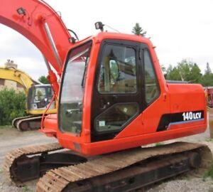 Doosan 140 excavator /excavatrice