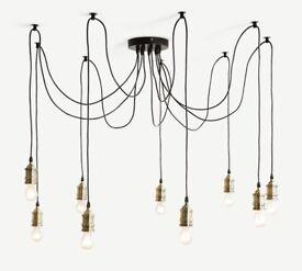 Made Starkey chandelier (with bulbs)