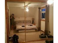 Mirrored wardrobe doors x 3