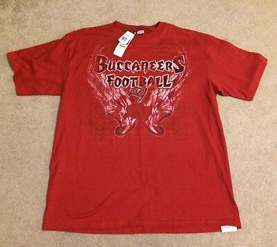 New Nfl Shop Team Apparel Tampa Bay Buccaneer T Shirt Xl Red Black White