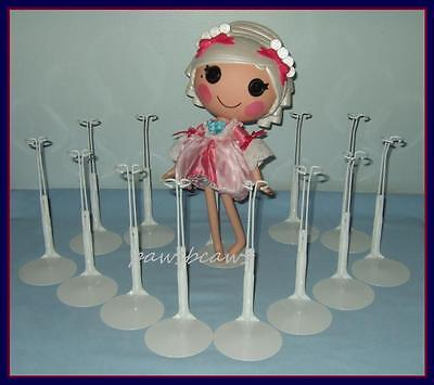 FREE U.S. SHIPPING 12 White Kaiser Doll Stands fits LaLaLoopsy on Rummage