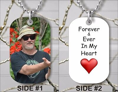 MEMORIAL CUSTOM PERSONALIZED TAG PENDANT IN MEMORY OF A LOVED ONE FREE CHAIN