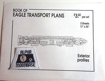 Original 1980s Space:1999 Eagle Blueprint Set-2 Fold Out Sheets/Envelope w Patch