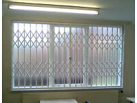 FOLDING CONCERTINA SECURITY GRILLES FOR HOME/BUSINESS WINDOW DOOR FOLDING GATES + MESH SHUTTERS BARS