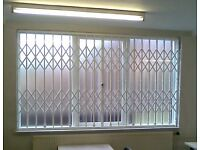 WINDOW & DOOR SECURITY SHUTTERS & GRILLES MADE IN LONDON + FITTING - BARS, GATES, ROLLER-SHUTTERS