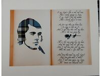 Robert Burns A Red, Red Rose Poem Tartan Picture