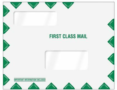 Greatland Tax Software Envelopes Double Window First Class 80344 500/lot First Class Window Envelopes