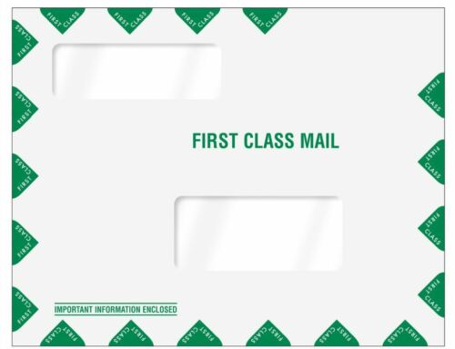 Greatland Tax Software Envelopes Double Window First Class 80344 500/lot