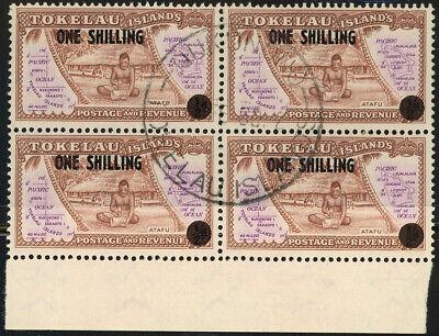 TOKELAU Islands #5 Postage Stamp Overprint Block 1956 Used